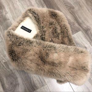 Holt Renfrew Faux Fur Pull Thru Collar Scarf